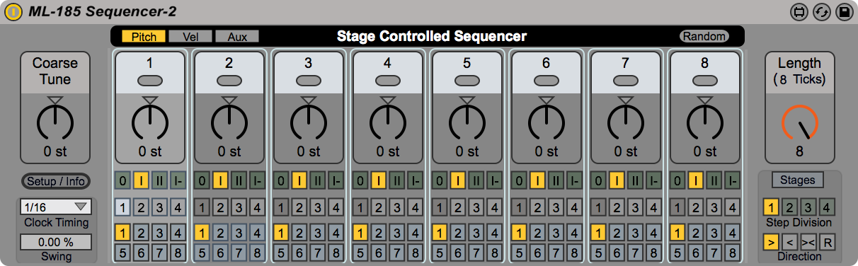 ML-185 Stage Controlled Sequencer